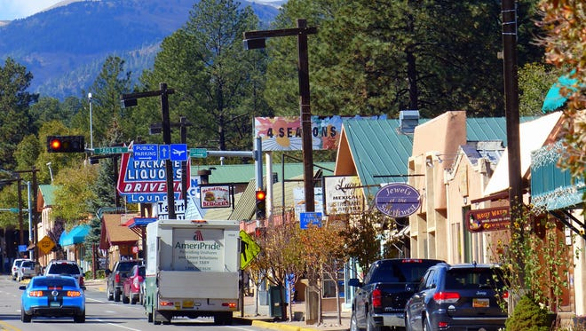 Midtown Ruidoso displays a collection of eclectic signs.