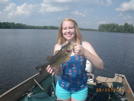 A 14-inch largemouth bass caught in Price County