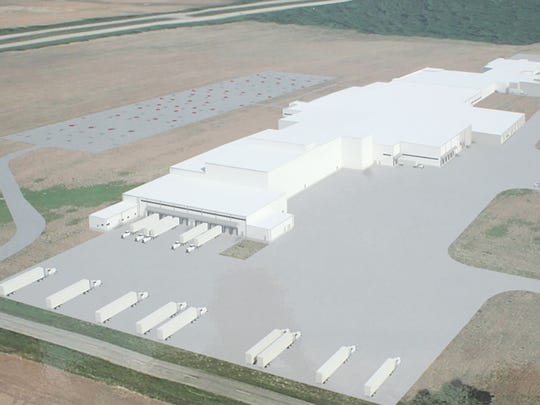 Artist's rendition of the Clemens Food Group facility to be located in Coldwater, MI.