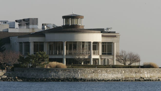 Exterior of the Glen Island Harbour Club in New Rochelle.