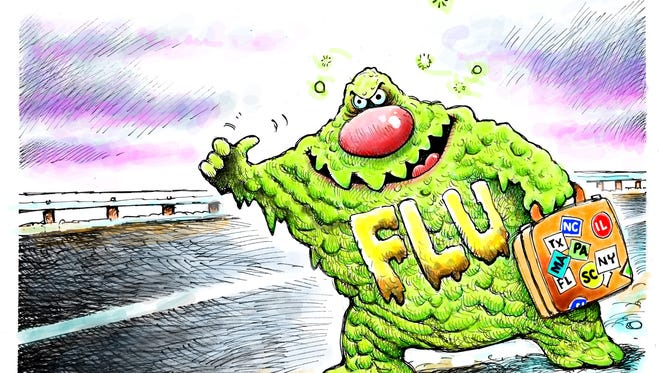 Flu bug spreading