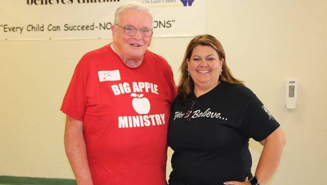 Tim Reardon and principal Carolyn Wilkins