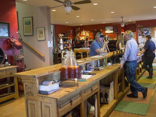 Sonoita Vineyards tasting room in Elgin, Ariz.