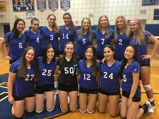 NV/Demarest girls volleyball