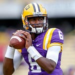 LSU Tigers quarterback Brandon Harris (6) will get the start against McNeese on Saturday.