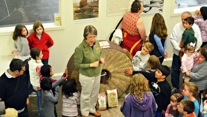 A group of kids takes a tour at Bob's Red Mill in Milwaukie.