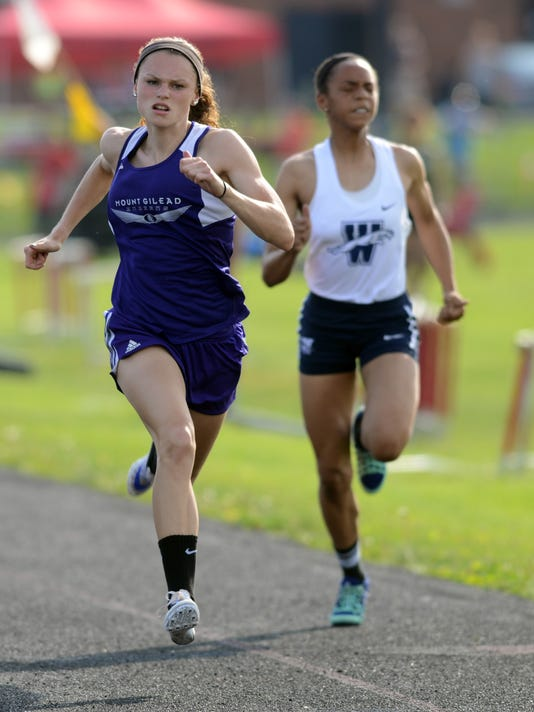 Olivia Brewer, girls track, Mount Gilead