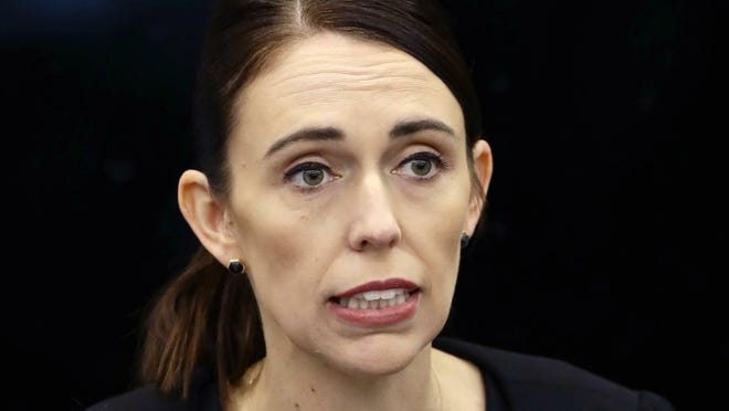 "New Zealand's Prime Minister Jacinda Ardern says New Zealand is immediately banning assault rifles, high-capacity magazines and ""military style semi-automatic rifles"" like the weapons used in last Friday's attacks on two Christchurch mosques. Ardern announced the ban Thursday, March 21, and said it would be followed by legislation to be introduced next month."