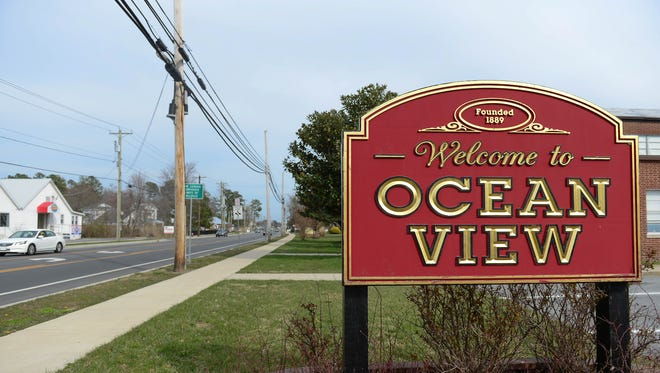 The welcome to Ocean View sign located in the Lord Baltimore Elementary School parking lot. Thursday, March 29, 2018.