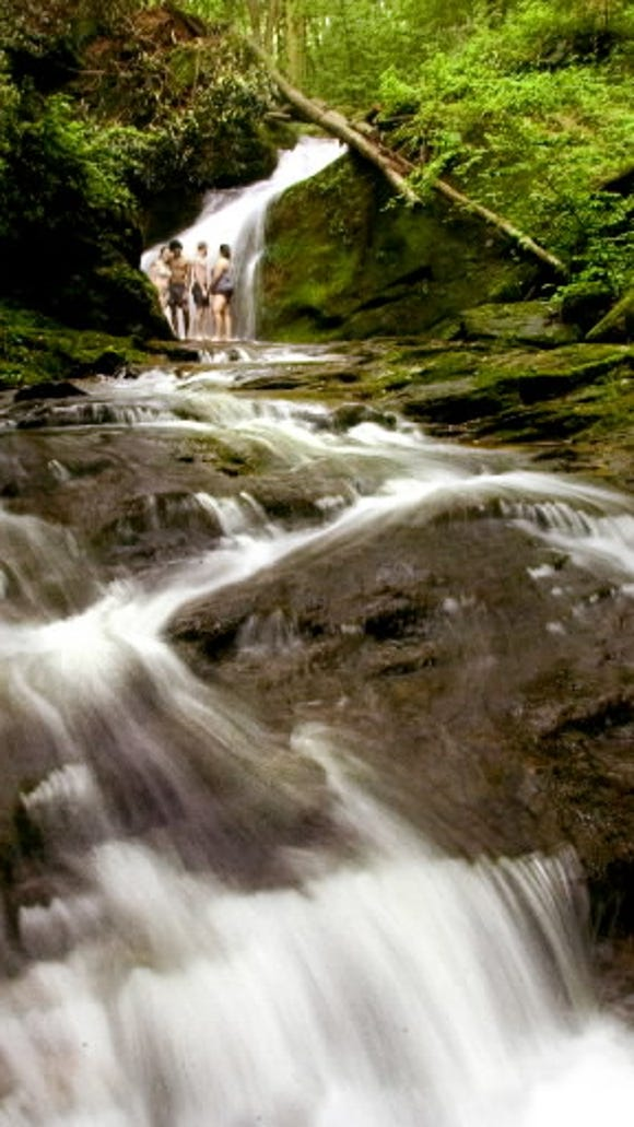 No, this isn't in the Smoky Mountains, Tennessee. This is a scene awaiting discovery in York County, Pa. These cascades are near the preserved Lock 12 on the long-gone Susquehanna and Tidewater Canal in southeastern York County.