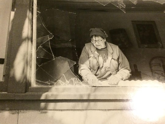 Anne Wilson Schaef works on the property in this photo taken during the late 1980s.