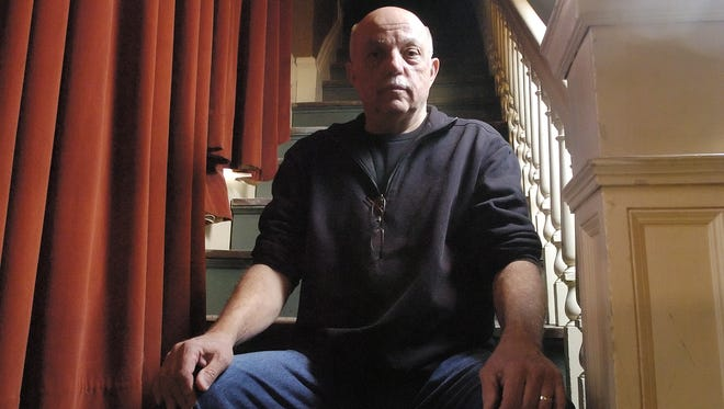 """David Budbill of Wolcott poses for a portrait at the Lost Nation Theater in Montpelier on Tuesday, April 17, 2007. The late writer's works will be featured in a trio of performances starting with tonight's production of his play """"Judevine."""""""