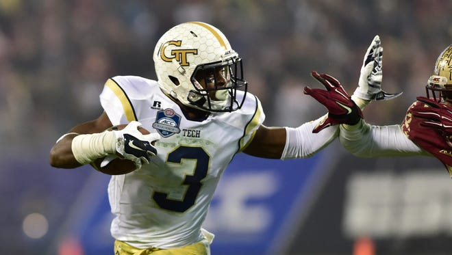 Former Georgia Tech Yellow Jackets running back Dennis Andrews (3) is at MTSU now.