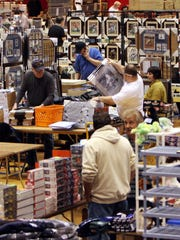 People look for deals at the Baseball Card Show at