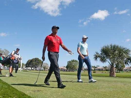 Tiger Woods, Sam Burns