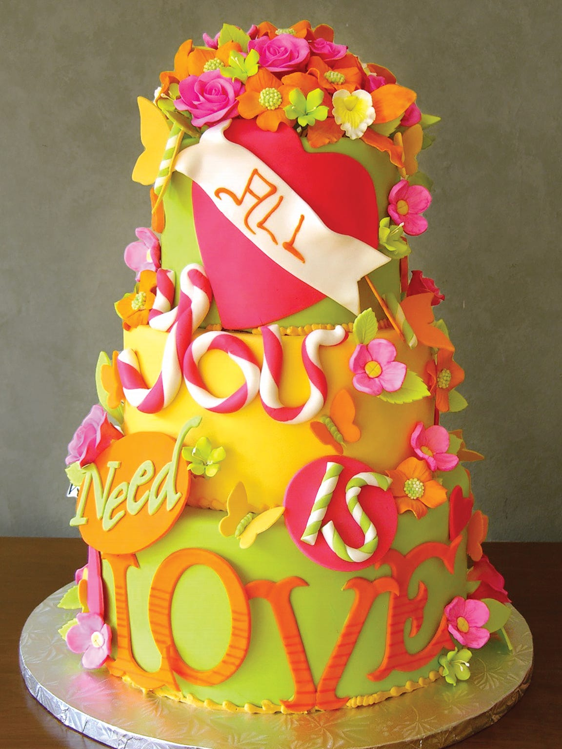 Wedding cake from Premier Pastry.