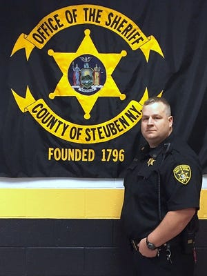 Steuben County Jail correction officer Robert Labar saved the life of an inmate who was choking, according to Sheriff Jim Allard.