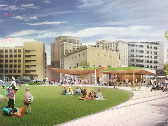 Rendering shows another view of the planned park that