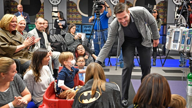 Piedmont Natural Gas and Monroe Carell Jr. Children's Hospital at Vanderbilt announced Mike Fisher as the grand marshal of the 64th Annual Piedmont Natural Gas Nashville Christmas Parade.Tuesday Oct. 31, 2017, in Nashville, TN