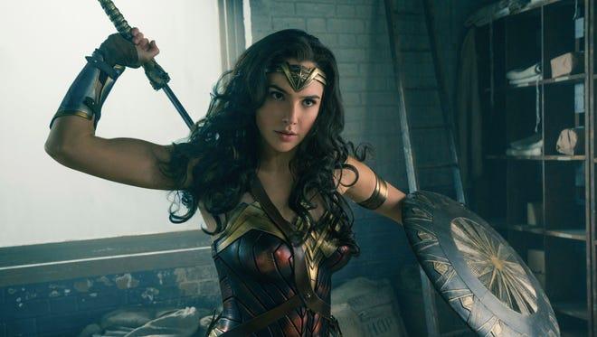 "Gal Gadot stars as ""Wonder Woman."""