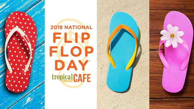The cafe will give out free Sunshine Smoothies on June 15 to any customer wearing flip flops.