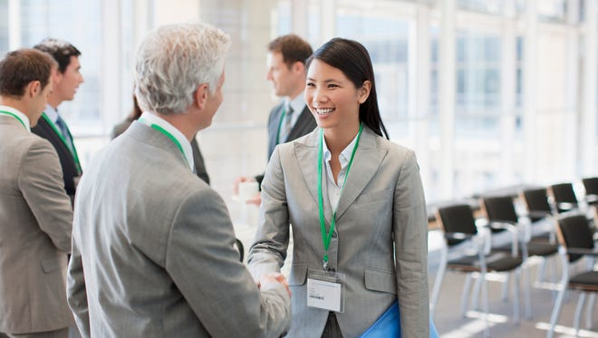 Think of name tags as an invitation to go and talk to strangers at networking events.