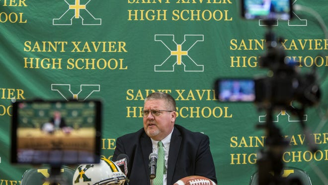 Kevin Wallace is the new football coach at St. Xavier High School. Wallace had been the coach at Bowling Green High. Feb. 6, 2018.