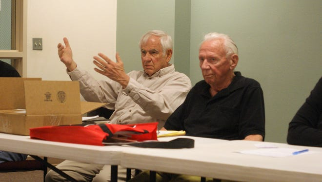 From left, Care Academy founders Don Heacox and T. Keith Harris strongly emphasized English language immersion rather than the dual language model employed throughout the Deming Public School District. They were not prepared to discuss accommodations for special needs students.