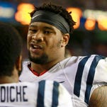 Ole Miss dropped to No. 13 in the Amway Coaches Poll following its 38-10 loss to Florida on Saturday.
