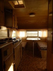 A before-photo inside the camper Luann Johnson bought.