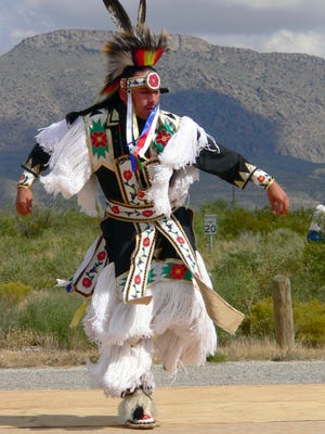 A member of the Zotigh Singers of Albuquerque performed a dance a previous Hueco Tanks State Park Interpretive Fair. This year the fair is Oct. 15-16.