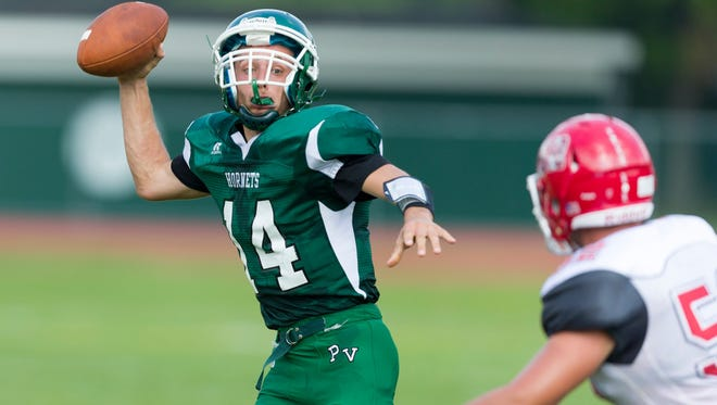 Senior quarterback Shawn Potenzone passed for 104 yards in the loss to Irvington.