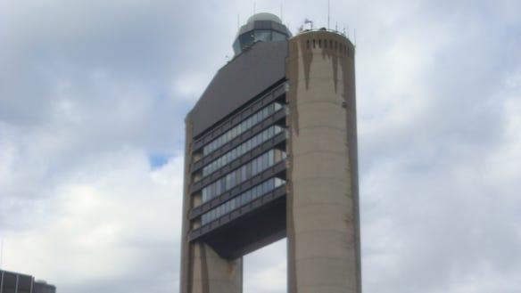 The control tower at Boston Logan International Airport