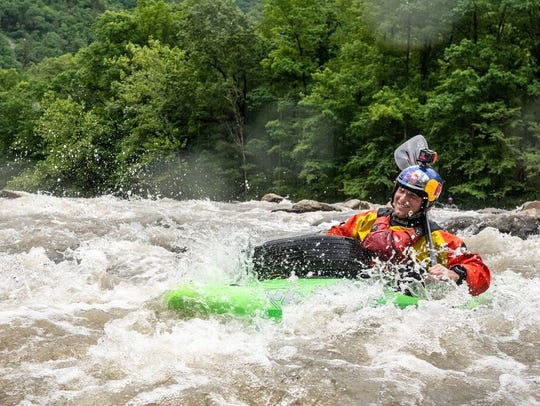 Professional kayaker and East Tennessee native, Dane