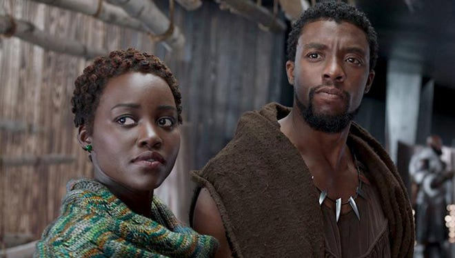 """Lupita Nyong'o and Chadwick Boseman star in """"Black Panther,"""" a movie that has demonstrated with undeniable force the power of black-oriented filmmaking."""