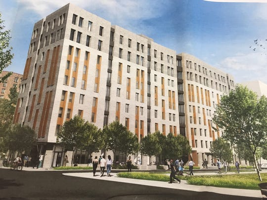 Rendering of new apartment building proposed in Phase II of former Winbrook (now Brookfield Commons) public housing redevelopment in White Plains.