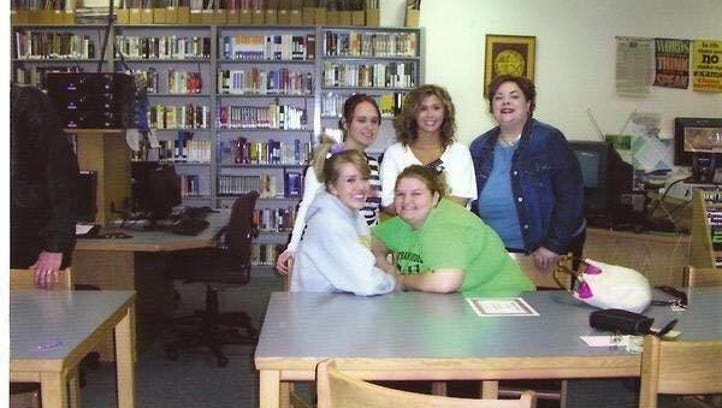 Monica Wagner (top right) poses with seniors on the Lutheran High School cheerleading squad in 2007. Wagner died Saturday after she was diagnosed with cancer.