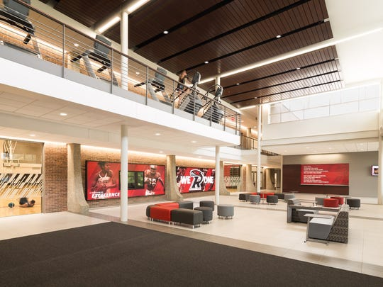 Ripon College celebrated the opening of its $22 million Willmore Center Oct. 7 with an open gym and ribbon cutting.