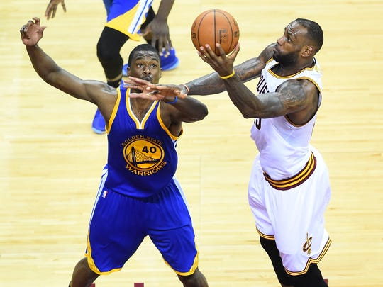 Harrison Barnes and LeBron James are both free agents this summer.