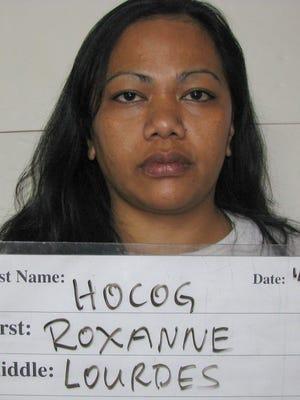 Department of Corrections mugshot of Roxanne Lourdes Hocog, 39.