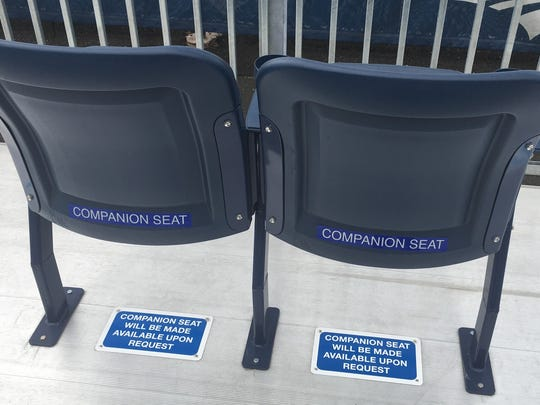 Companions seats in an ADA section at Mackay Stadium.