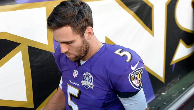Baltimore Ravens quarterback Joe Flacco will miss the rest of the season with a knee injury.