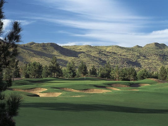 The 5th hole at the Raven Golf Club Phoenix.