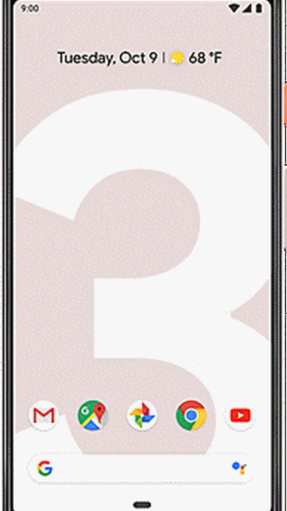 The new Google Pixel 3.