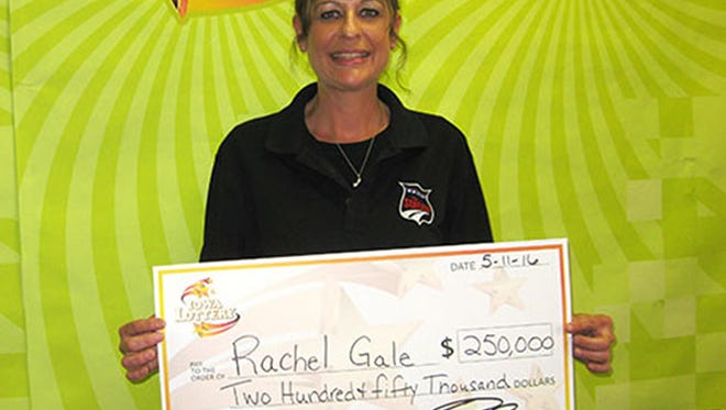 Rachel Gale, Walford, is a $250,000 winner in the Iowa Lottery.