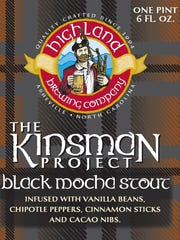 Highland Brewing has released Kinsman Black Mocha Stout with vanilla beans, fresh cinnamon and chipotle pepper. Look for it on draft and in 22 ounce bottles.