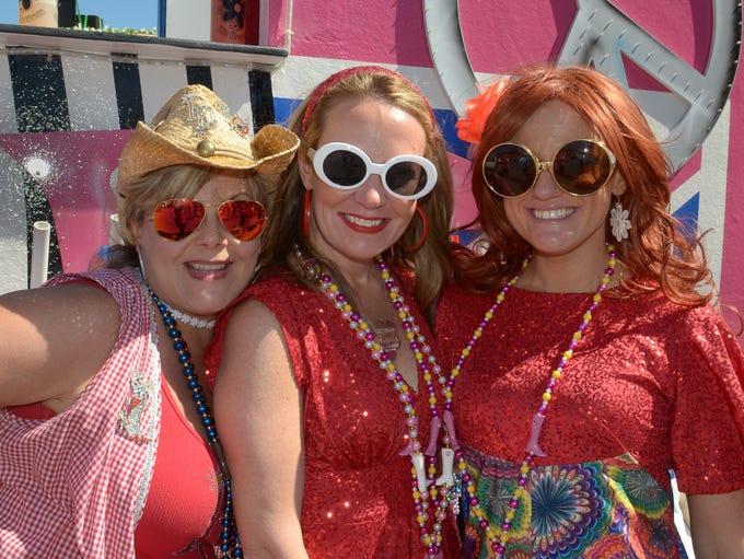 Line up prior to the 2017 Pensacola Grand Mardi Gras