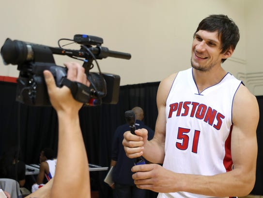 Boban Marjanovic smiles for a video during media day