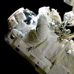 Former Melbourne High teacher part of spacewalk to replace blurry camera