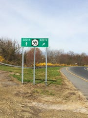 The entrance to Route 55.